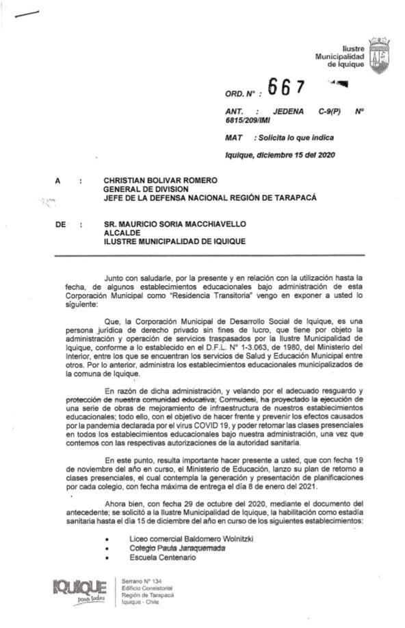 Cormudesi solicita al Jedena devolución de establecimientos educacionales utilizados como albergues