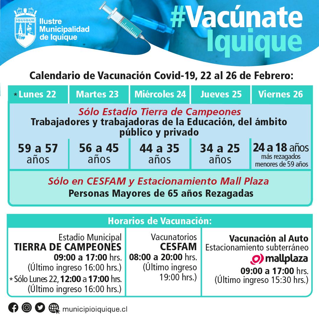 Vacunación contra el Covid-19 en Iquique: puntos de atención
