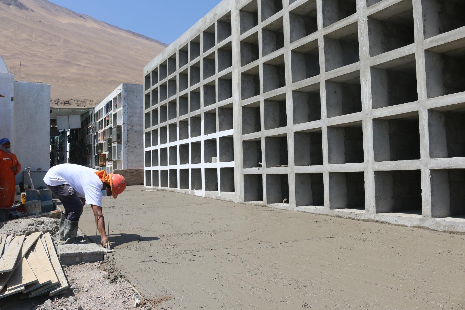 Cormudesi acelera construcción de nichos en Cementerio N°3 de Iquique