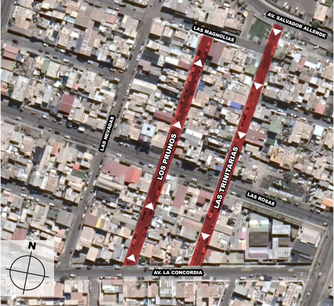 Municipalidad de Iquique confirma cambio de sentido en dos calles de la ciudad