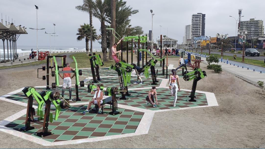 Concejo Municipal de Iquique aprueba propuesta pública para construir estación deportiva en Parque Balmaceda