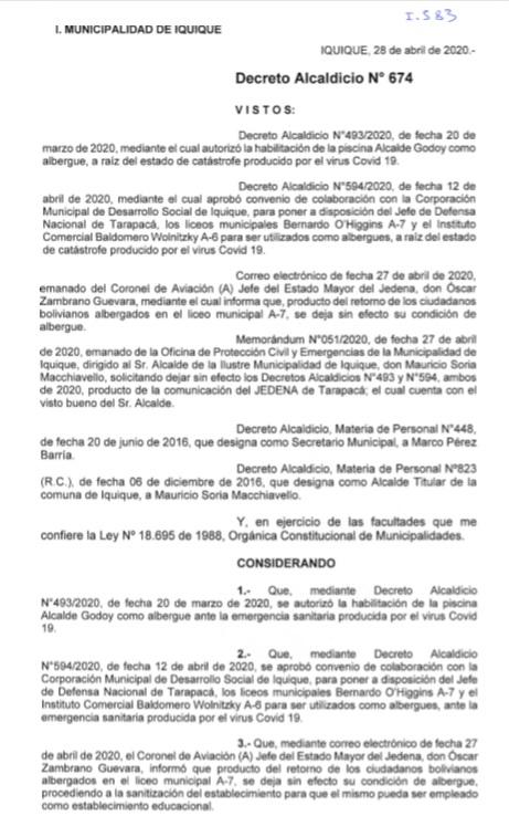 Decreto N°674